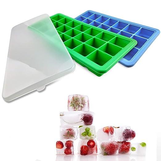 Lifestyle Essentials Bandejas de silicona para cubitos de hielo ...