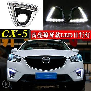 cnautolicht 2 x LED luces de conducción diurna DRL Niebla lámpara para Mazda CX-5 cx5 2012 2013 2014 2015 2016: Amazon.es: Coche y moto