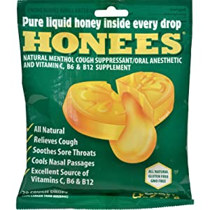 2Pack! Honees Cough Drops - Extra Large - Menthol - 20 Count