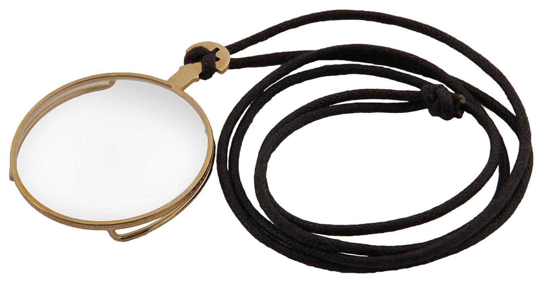 Steampunk Monokel Goldfarben Mit Halteband 42mm Durchmesser Für