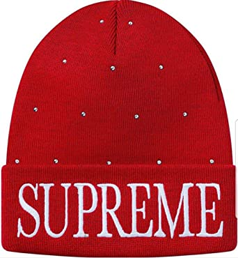 c599ba026d2b SupremeNewYork Supreme Studded Beanie Red 100% Authentic Real ...