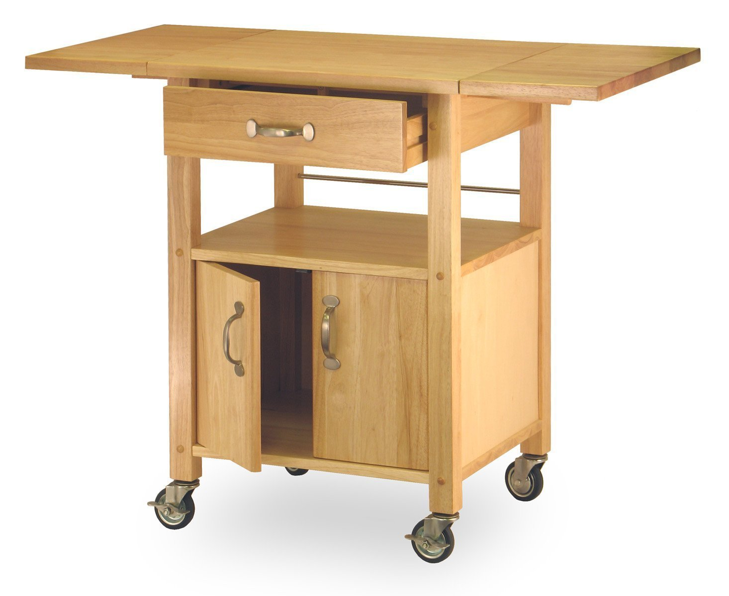 rolling kitchen cabinet costway rolling kitchen cart island wood