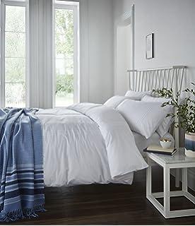 Single Duvet Cover White SOAK AND SLEEP Premium Polycotton Easycare 180TC Bed Linen