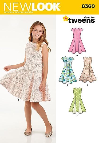 Nuevo patrón de costura Look 6360 Girls Clasificado para las preadolescentes vestido