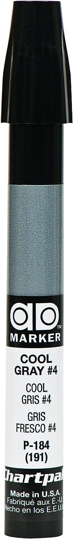 The Original Chartpak AD Marker, Tri-Nib, Cool Gray 4, 1 Each (P184)