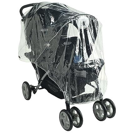 Protector de lluvia Tandem compatible con cochecito Graco Quattro Tour Duo