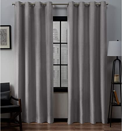 SALE!!PAIR READY MADE CURTAINS STRIPED BLACK// GREY// WHITE VOILE EYELET RING