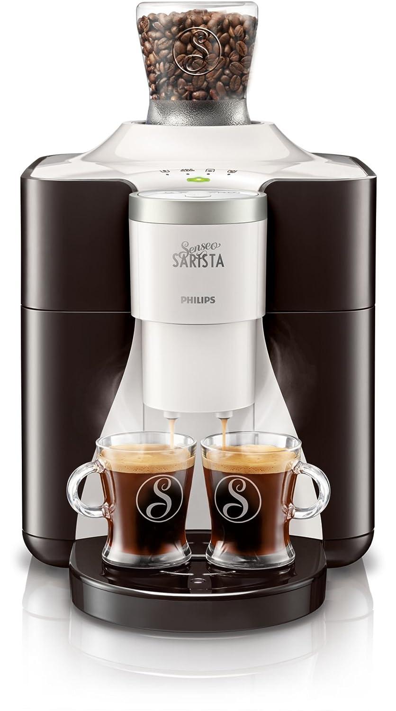 Senseo SARISTA HD8010/10 - Cafetera (Independiente, Máquina espresso, 1,25 L, Molinillo integrado, 2000 W, Blanco): Amazon.es: Hogar