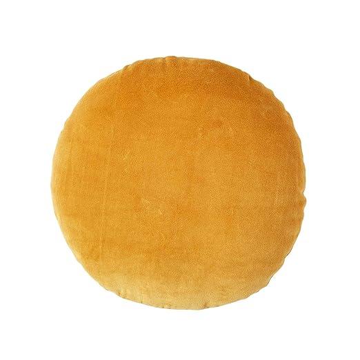 Homescapes - Cojín redondo de terciopelo (40 cm, 100 ...