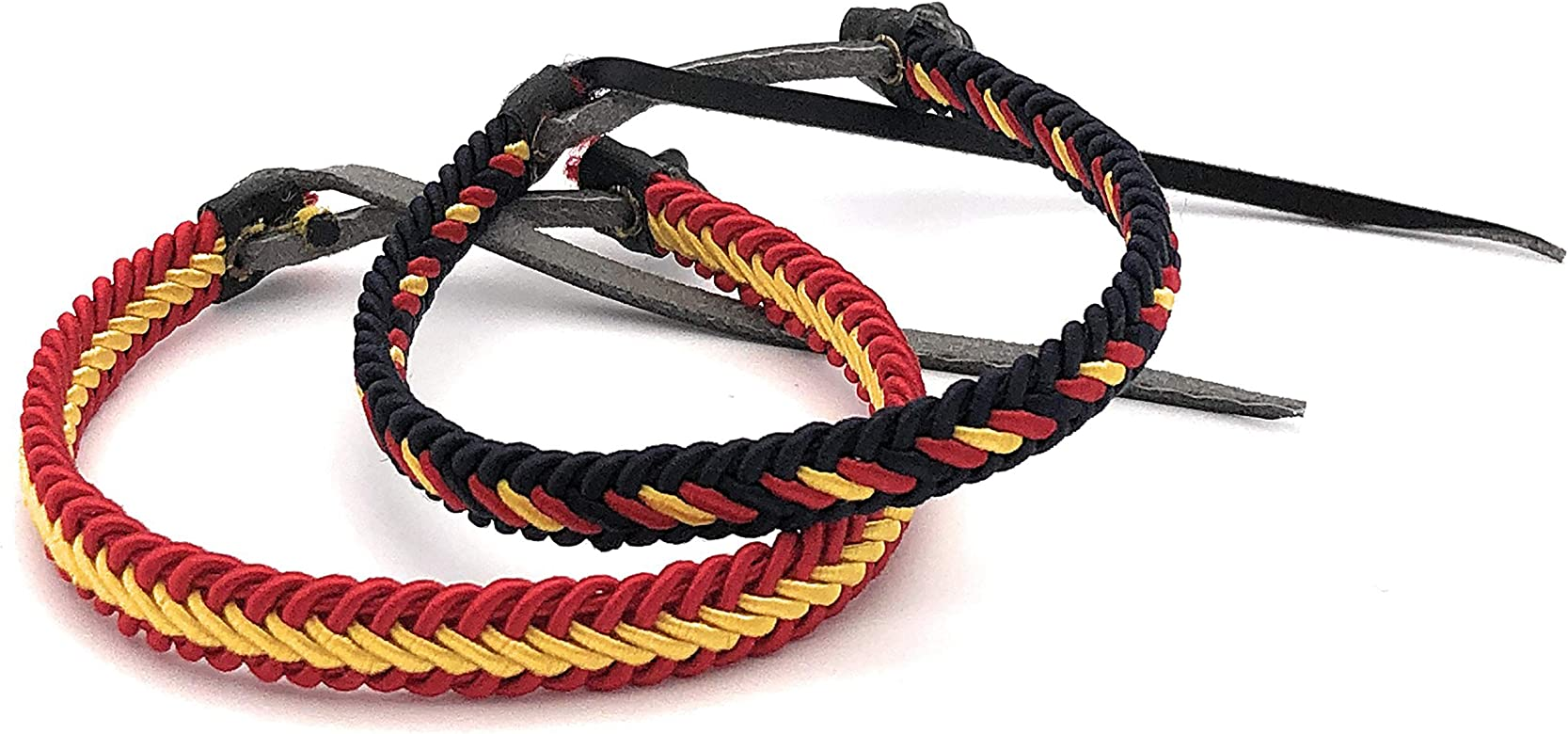MovilCom® Pack de 6 Pulseras Pulsera de Cuero e Hilo Trenzado Colores Bandera ESPAÑA 6 Unidades 2 Colores: Amazon.es: Joyería