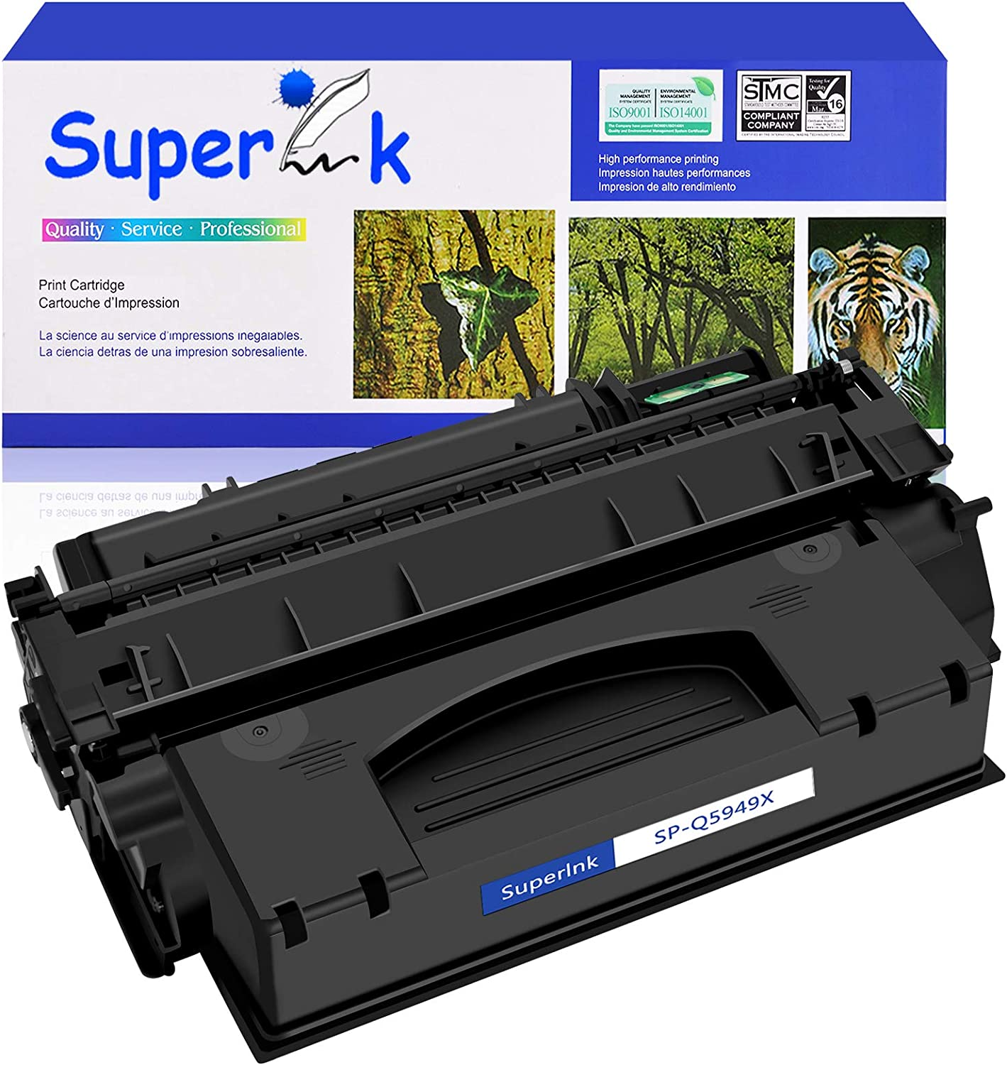SuperInk Compatible for HP Q5949X 49X Toner Cartridges High Yield (1 Black) Replacement with Laserjet 1320 1320n 1320nw 1320t 1320tn 3390 3392 Printer