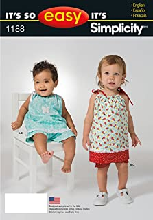 product image for Simplicity It's So Easy Pattern A1188 Babies Top in Two Lengths, Panties and Pants, Birth-18 Months XXS-L