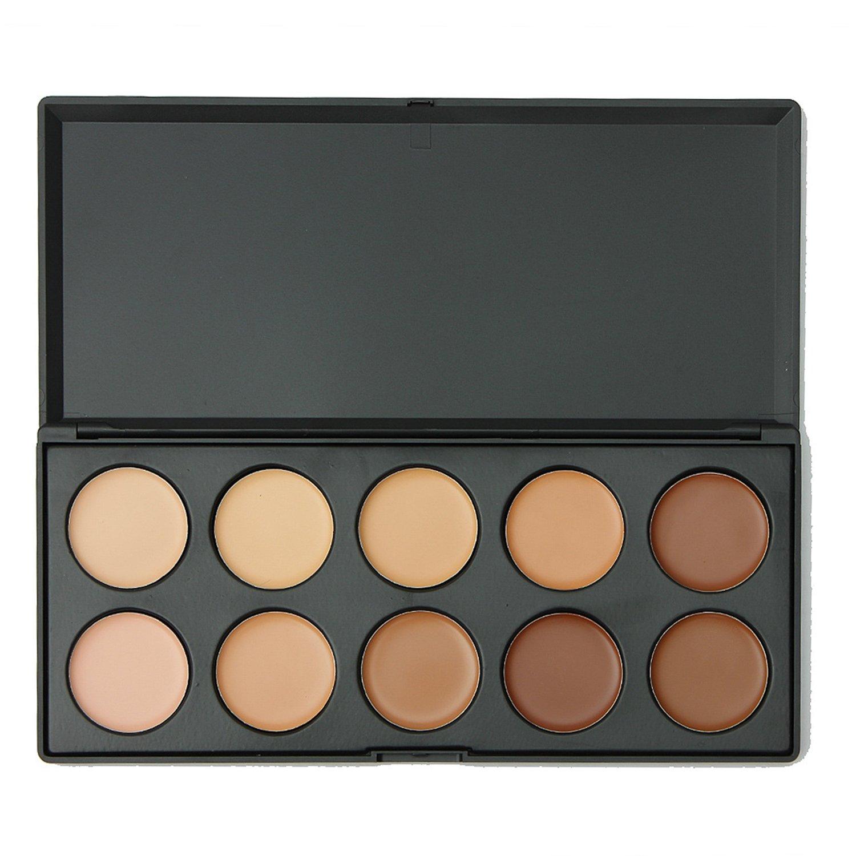 1 Box 10 Colors Concealer Camouflage Foundation Makeup Palette Contour Face Contouring Kit