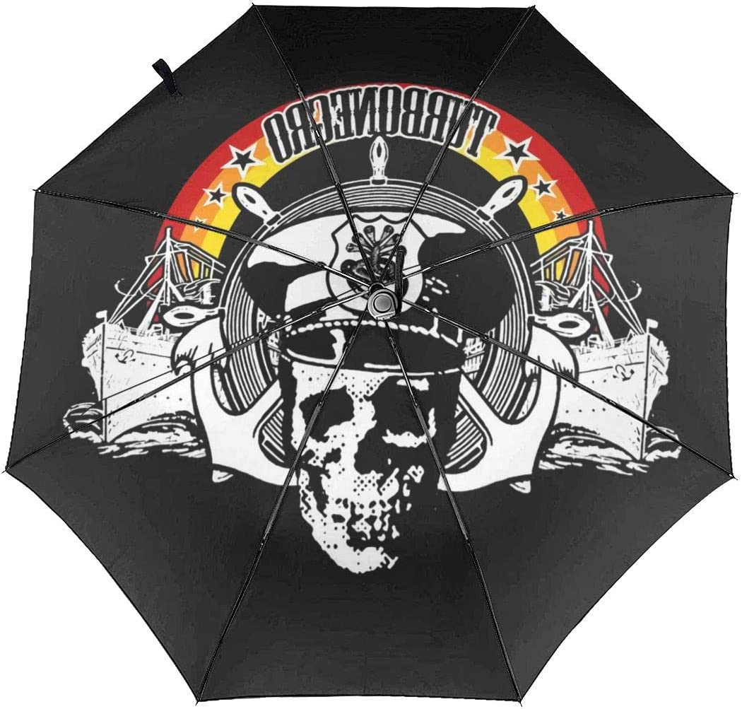 Turbonegro Sun Protection Umbrella,Waterproof Travel Automatic Tri-fold Umbrellas