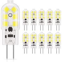 DiCUNO G4 LED Light Bulb Bi-Pin Base 1.5Watt 15-20W Halogen Bulb Equivalent 12 Volt Daylight White 6000K 180 Lumen Non-dimmable Pack of 10