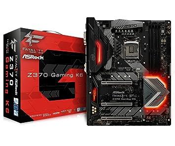asrock fatal1ty z370 gaming k6 atx motherboard for intel socket