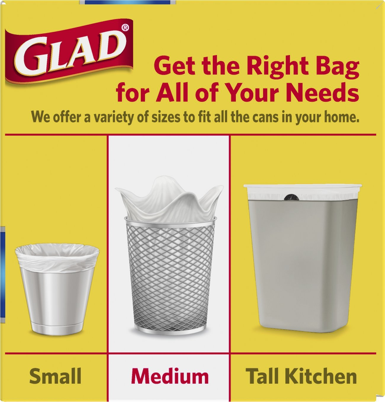 Amazon.com: Glad ForceFlex Medium Quick Tie Trash Bags, 8 Gallon, 26 Count    Pack Of 12 (Packaging May Vary): Health U0026 Personal Care