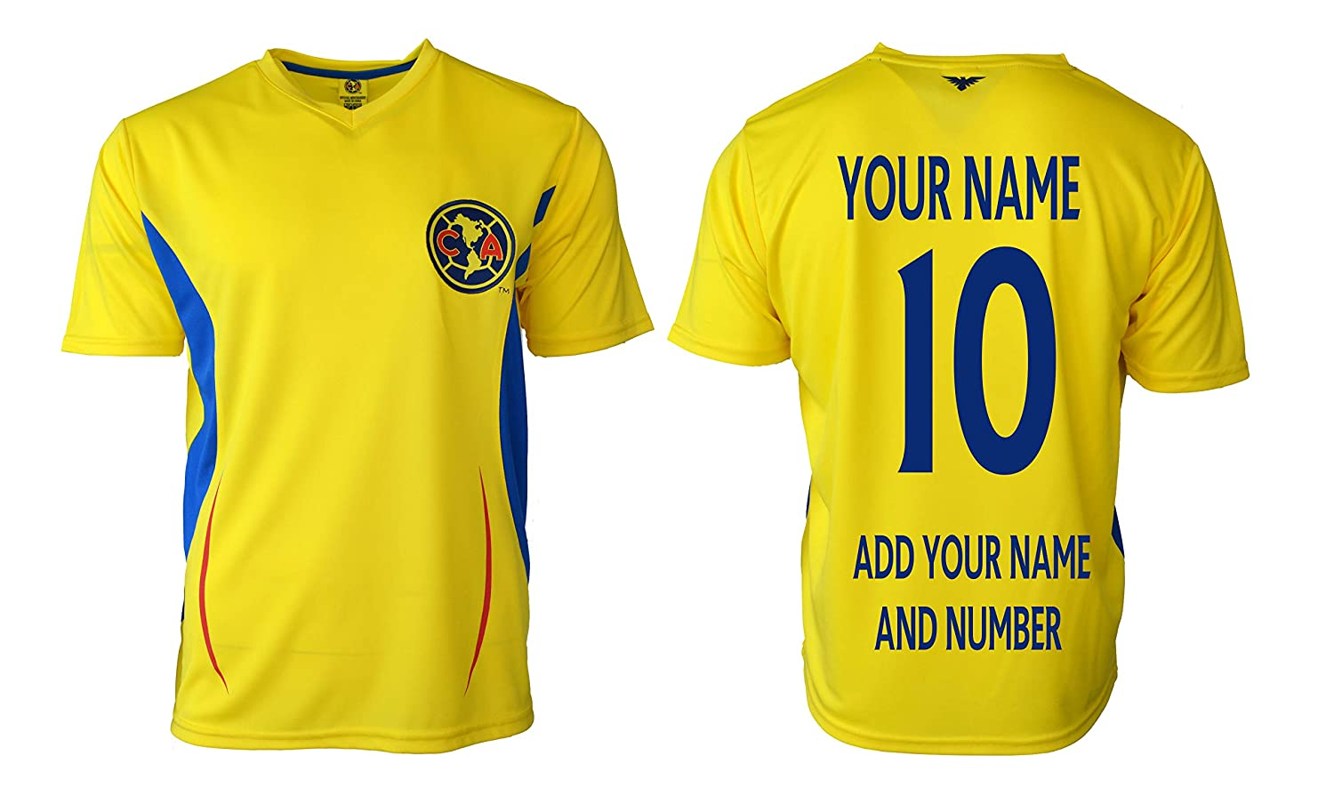 283521630f4 Amazon.com: Club America Adults Soccer Jersey Performance Add Your Name and  Number: Clothing