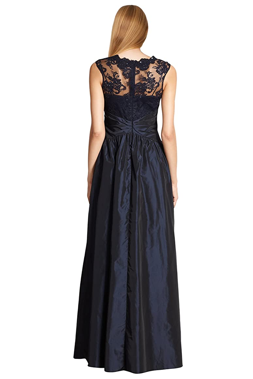 Amazon.com: Teri Jon Floral Embellished Sequin Lace Taffeta Evening ...