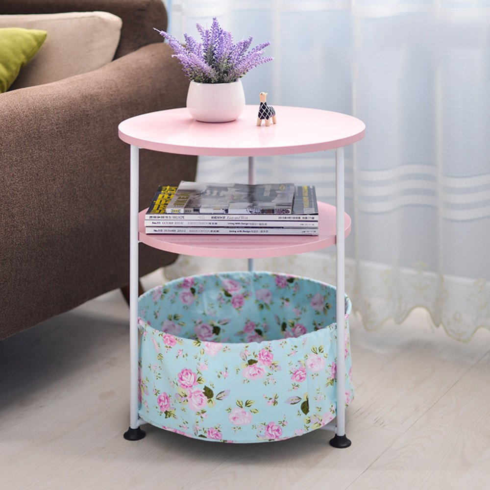 HAKN 折りたたみテーブルラウンドベッドサイドテーブル7色オプションサイズオプション ( 色 : D ) B07BVQZXMG D D