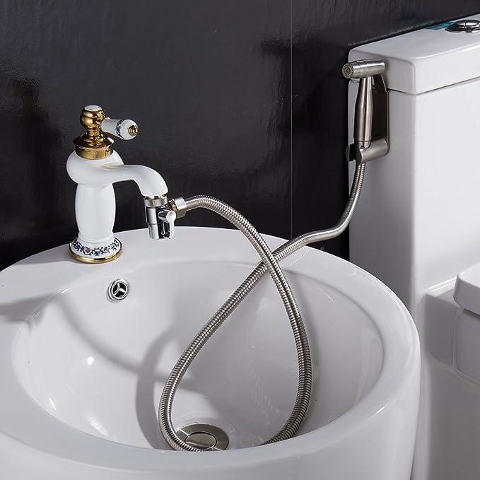 Brass Sink Valve Diverter Faucet Splitter For Kitchen Or Bathroom Sink Faucet Replacement Part Faucet To Hose Adapter Splitter Part M22 X M24 Commercial Bathroom Sink Faucets Restroom Fixtures Semo Es