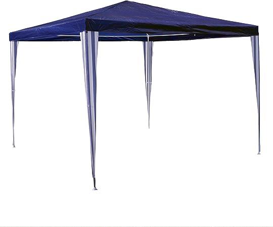 Nexos PE-Pavillon Partyzelt mit 6 Seitenteilen und 2 Eing/ängen f/ür Garten Terrasse Feier oder Fest als Unterstand Plane 110g//m/² wasserdicht 3 x 9 m blau