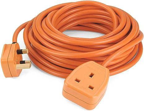 1 gang 10 mètre orange socket 1 way 10M outdoor weatherproof power socket nouveau