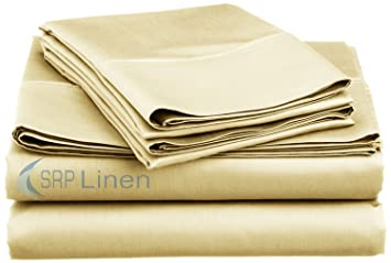 400 thread count super soft extra deep pocket sheet set kingeastern king solid ivory
