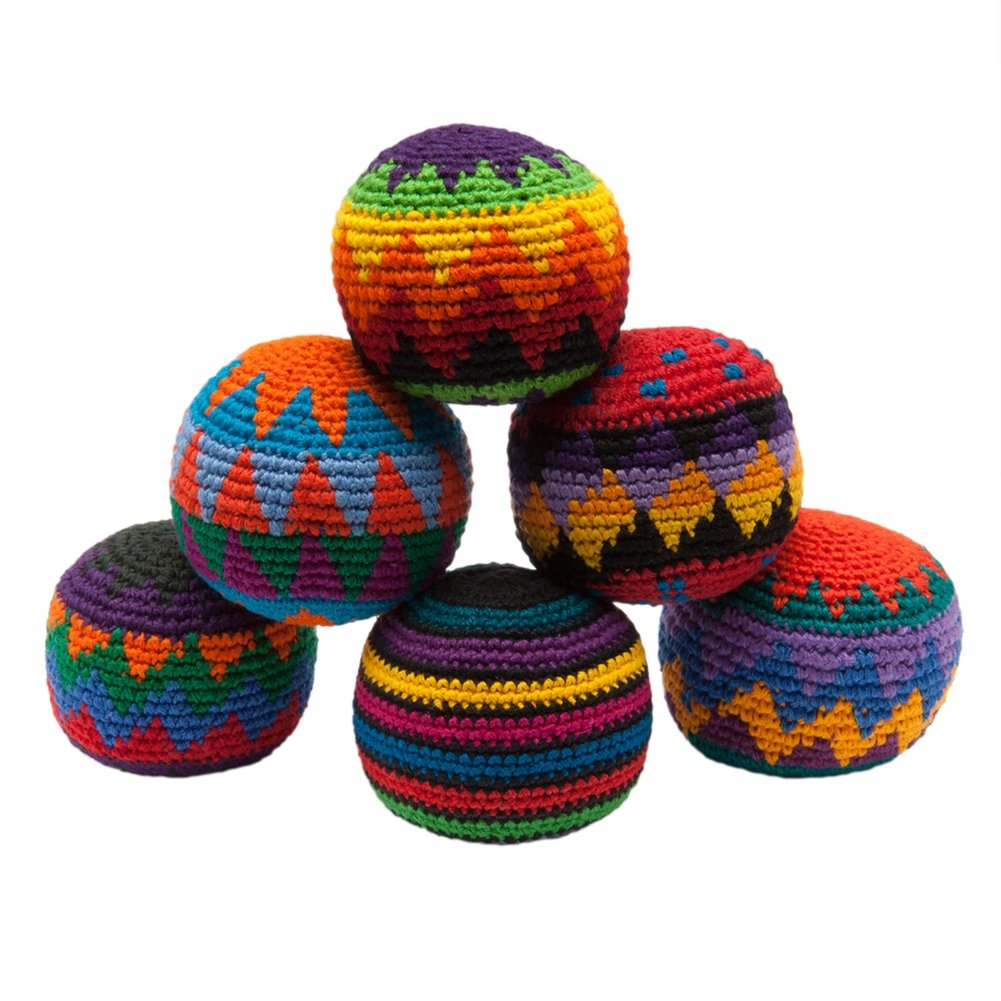 Amazon.com: Hacky Sack - Knitted Kick Balls Assorted Colors: Toys & Games