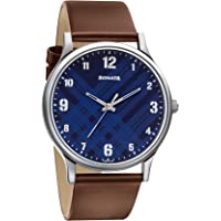 Sonata Smart Plaid Analog Blue Dial Men's Watch-77105SL03