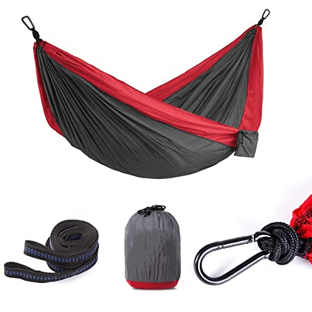 romatlink Single Double Hammock with Carrying Backpack, Durable Hammocks-Outsdoors and Indoor Use for Hiking, Camping, Traveling and Yard Gear