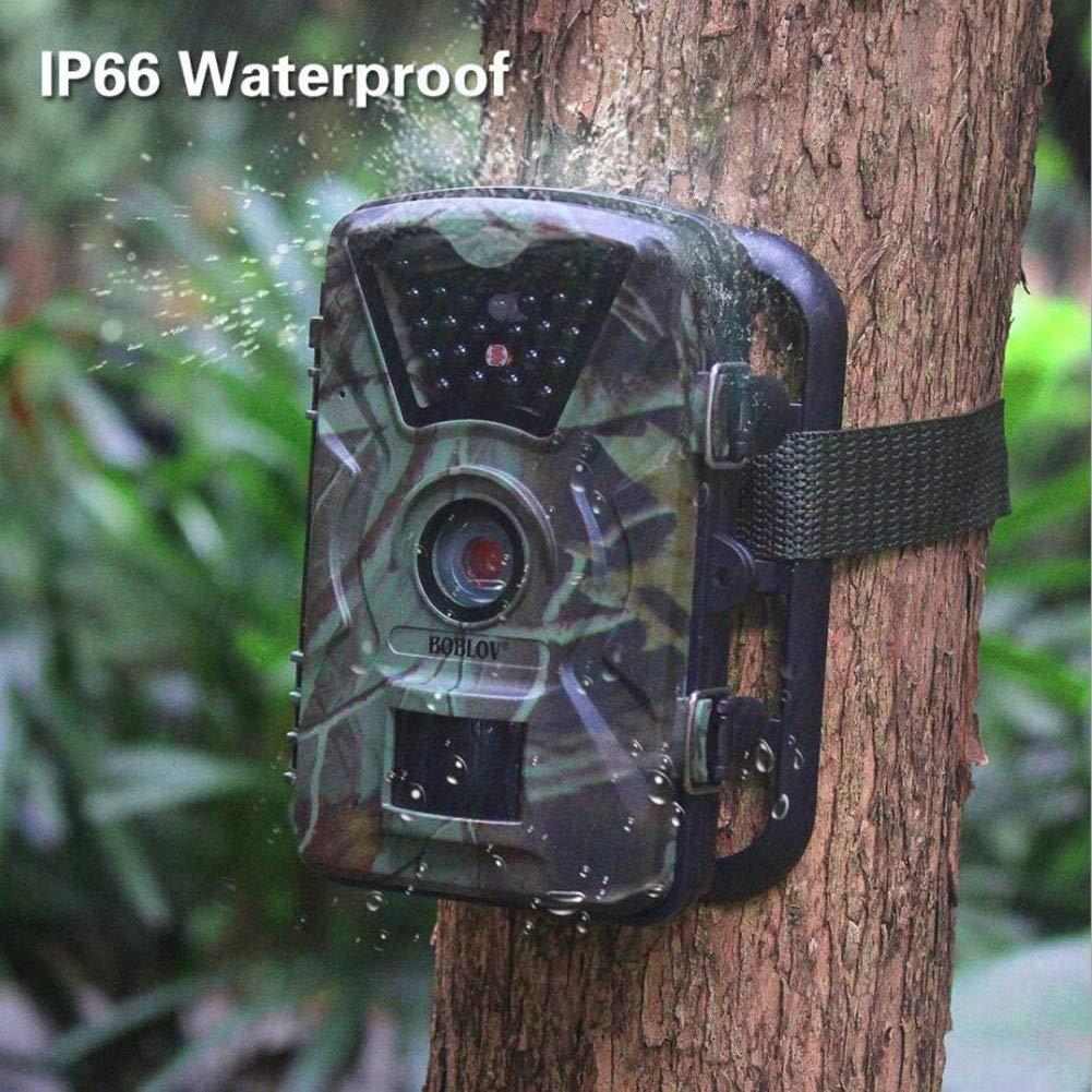 JUILARY-Cameras Cámara De Trail Al Aire Libre De Animales Salvajes Cámara Ultra HD Impermeable Infrarrojos Luz Noche Cámara De Vigilancia: Amazon.es: ...