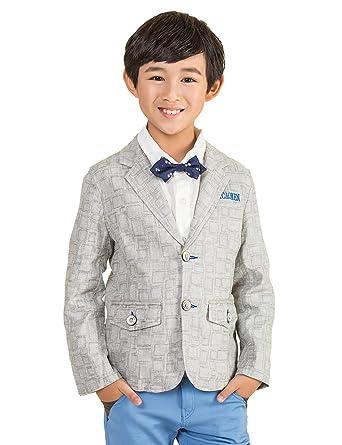 bycr Boys diseño de cuadros chaqueta de lino Blazer Casual traje ...