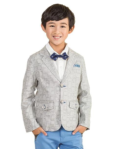 bycr Boys diseño de cuadros chaqueta de lino Blazer Casual ...