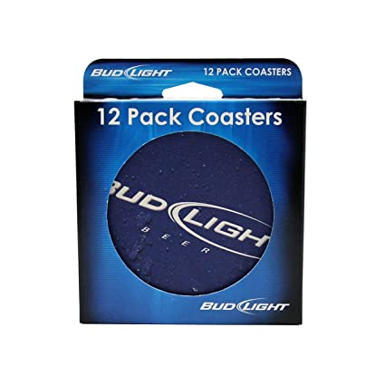 Boelter 179626 Bud Light Coasters   12 Pack