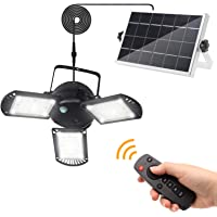 Solar Lights Outdoor, KUFUNG 3 Leaf Solar Pendant Light with Adjustable Multi-Position Panels, Waterproof Solar lamp…
