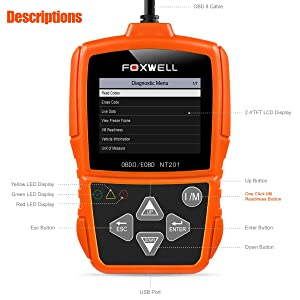 Foxwell NT201 OBDII Automotive Diagnostic Scan Tool