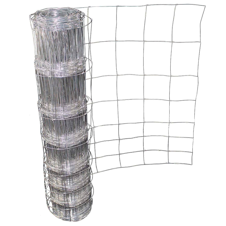 Easipet Livestock Stock Fence M8/100/15 50m Long 1m High Galvanised ...
