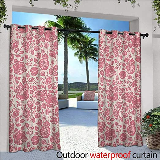Familytaste, cortina de privacidad para exteriores, coral, para ...