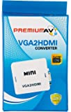 Terabyte171202896220 VGA to HDMI Full HD Video 1080P Audio Converter Adapter (Multicolor)