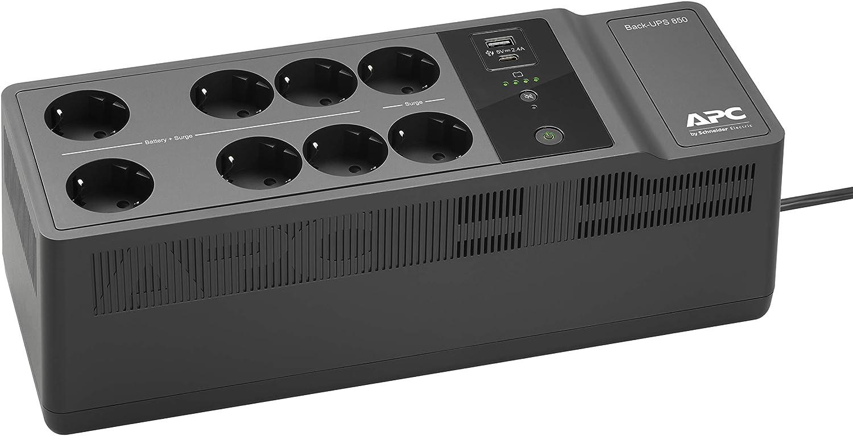 APC BE850G2-IT Back-UPS ES 8-Fach /Überspannungsschutz, 2X USB-Ladeanschluss