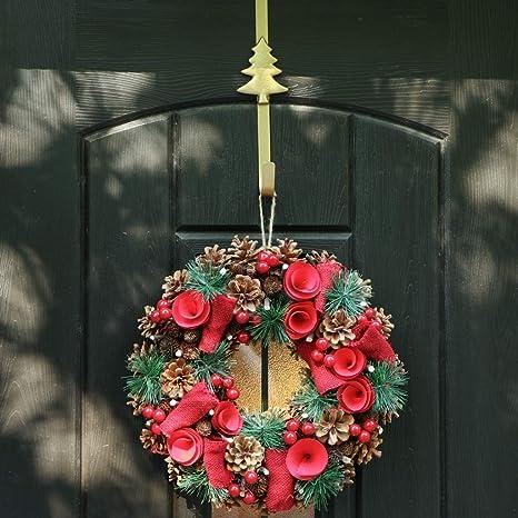 Clear Plastic Christmas Wreath Door HangerFloristry Craft Supplies