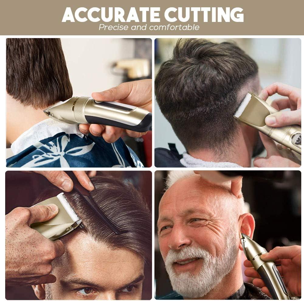 TTLIFE Cortar el pelo Pantalla LED recargable inalámbrica para ...