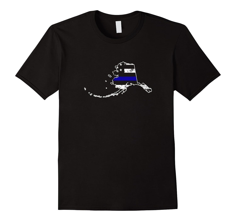 Alaska Thin Blue Line Police T-Shirt-CL