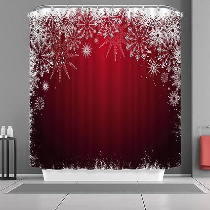 Amazon VANCAR Waterproof Bathroom Decor Custom Xmas Merry
