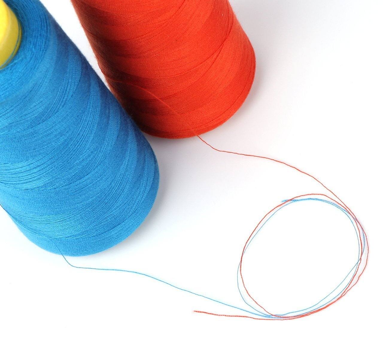 Sewing Thread 100/% Polyester Spools 5 Colors 3000 Yard Spools Overlock Cone for Serger Sewing Machine