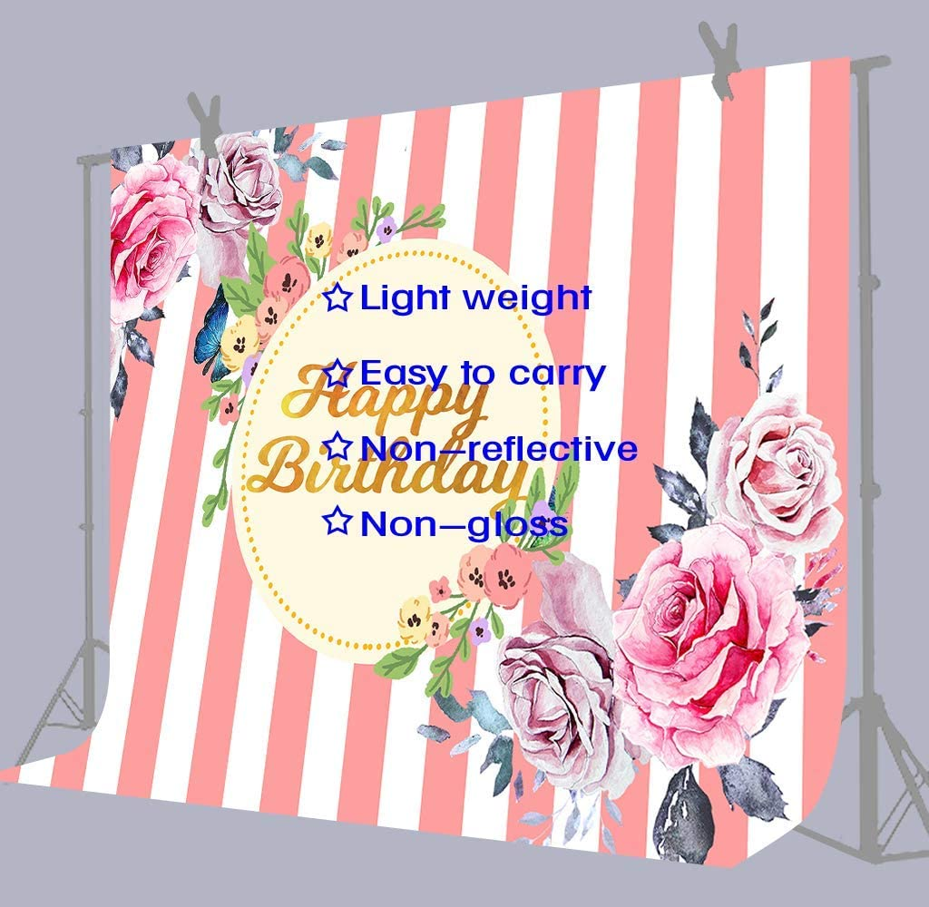 10x8ft Background Happiness Flower Theme Birthday Photography Backdrop Photo Studio Props Children Family Room Banner LHFU092