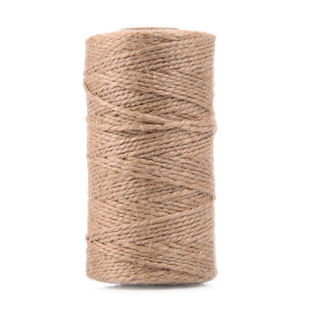100 m (1 rotolo) lino spago corda, lino spago, corda di canapa lino corde per fai da te, confezione da regalo, decorazione natalizia wonderfulwu