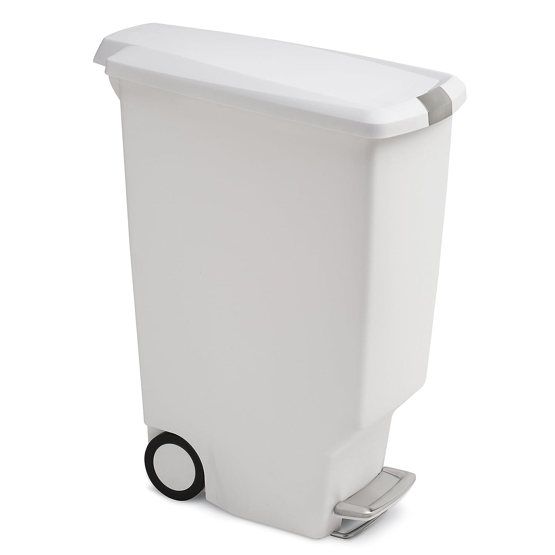 Plastique blanc poubelle /à p/édale en plastique 40 L Simplehuman