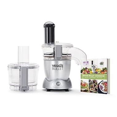 Veggie Bullet Electric Spiralizer & Food Processor, Silver (Renewed)